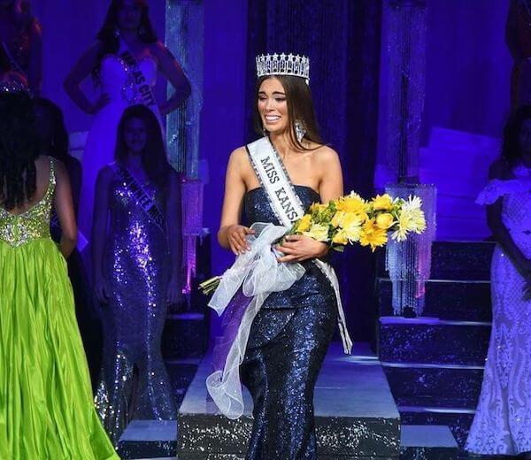 Alyssa Klinzing when she was crowned as Miss Kansas USA