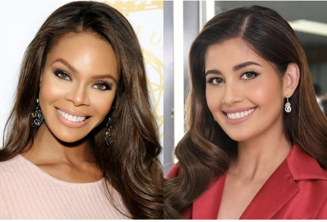 Former Miss USA Crystle Stewart of Texas and Former Miss Universe Philippines Shamcey SupSup Lee