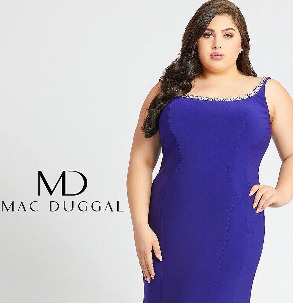 Emma Loney modeling for Mac Duggal