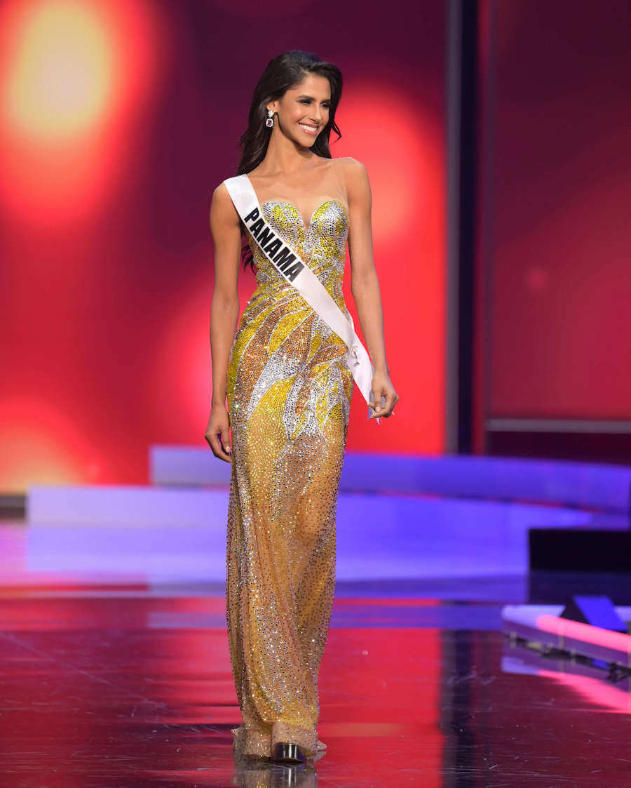 Miss Panama 2020 during the Miss Universe evening gown preliminary competition