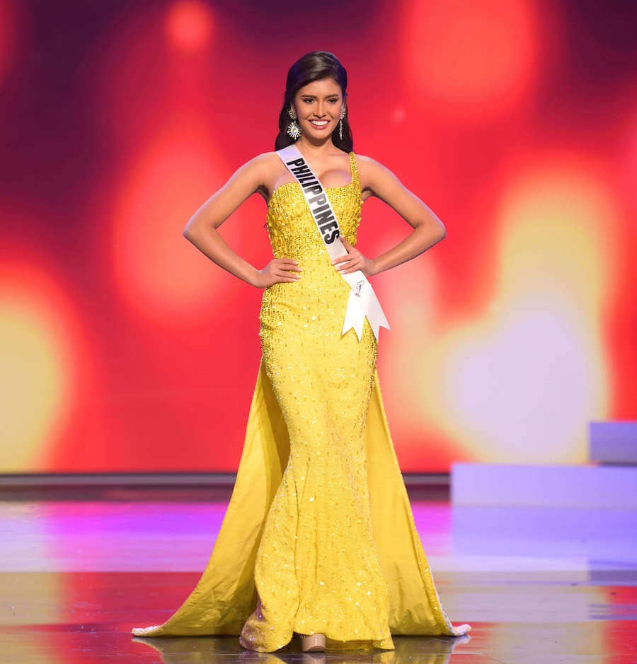 Miss Phillippines 2020 during the Miss Universe evening gown preliminary competition