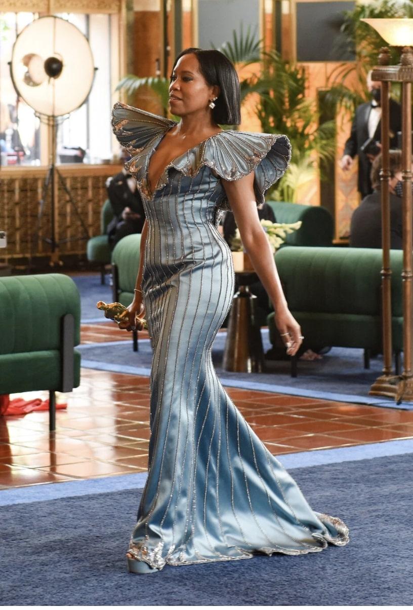 Regina King on the 2021 Academy Awards red carpet