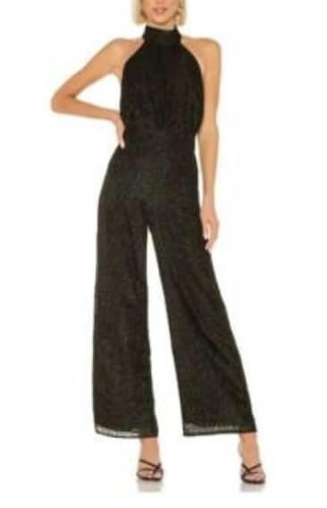 Pieper's black jumpsuit on the Bachelor