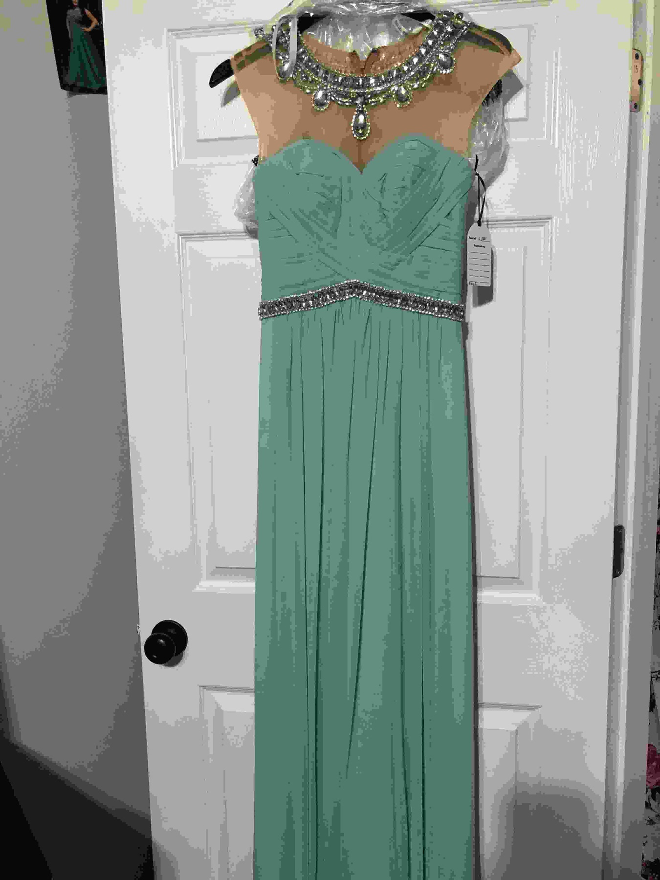 Sherri Hill Blue Size 2 Straight Dress on Queenly