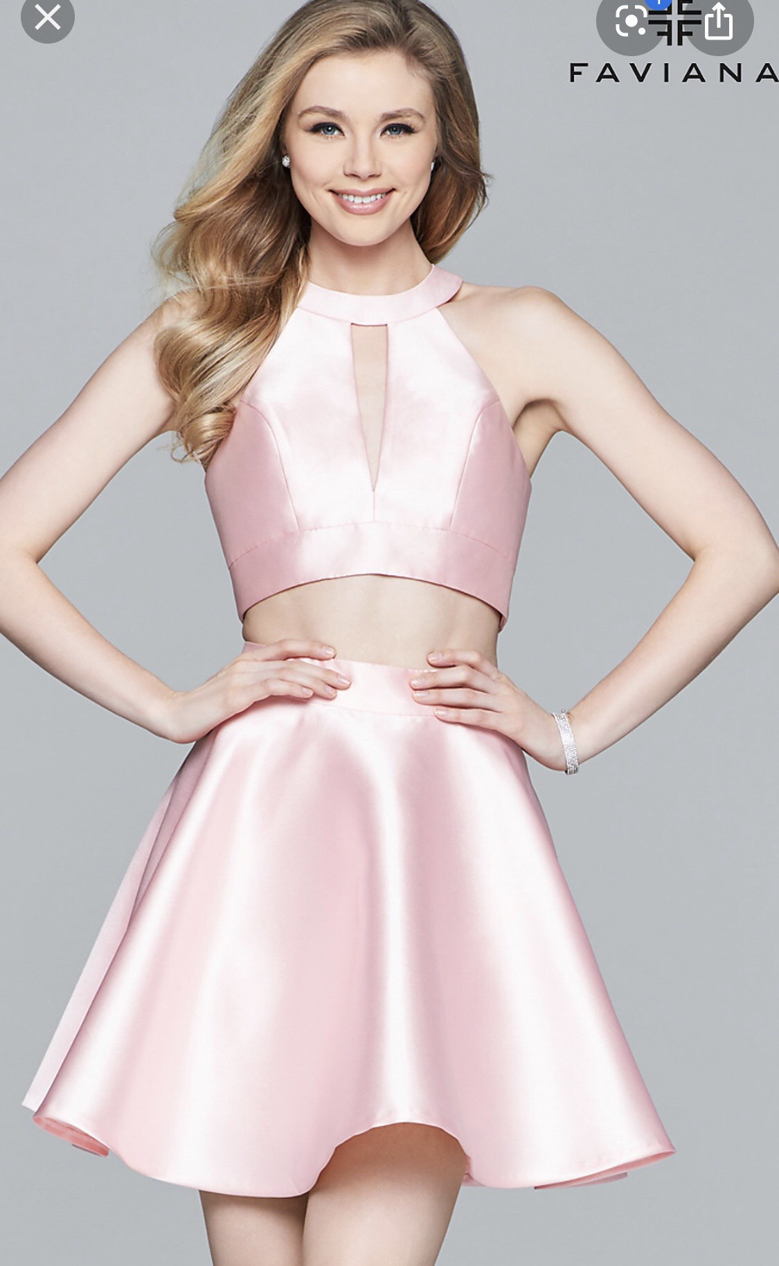 Faviana Pink Size 4 Halter Homecoming Cocktail Dress on Queenly