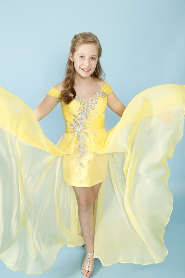Alyce Paris Yellow Size 4 Fun Fashion Sleeves Pageant Straight Dress on Queenly
