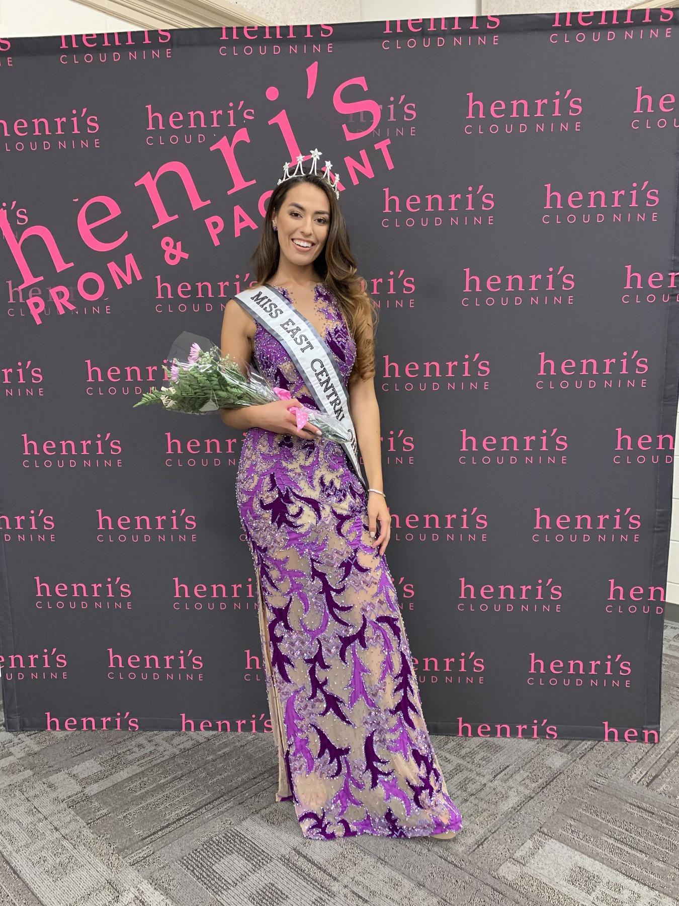Jovani Purple Size 4 Sheer Custom Straight Dress on Queenly