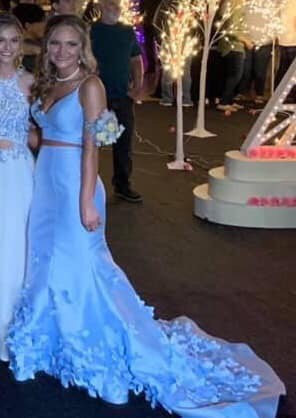 Sherri Hill Blue Size 2 Prom Mermaid Dress on Queenly