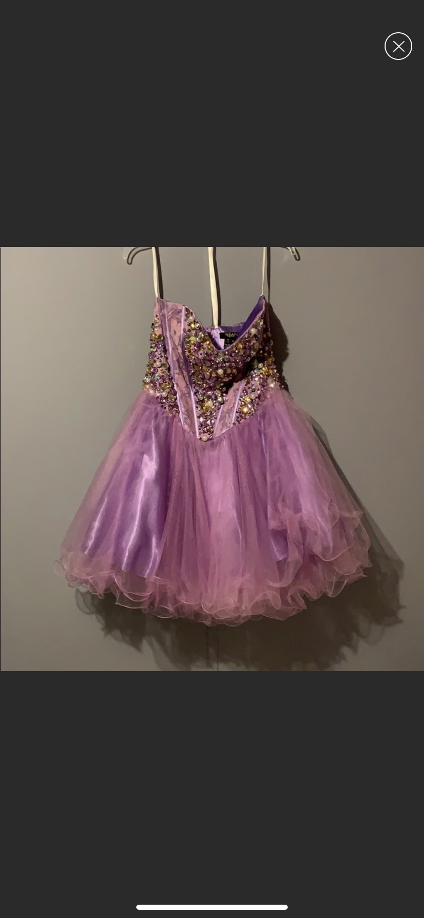 Terani Couture Purple Size 8 Homecoming Sweetheart Strapless Cocktail Dress on Queenly