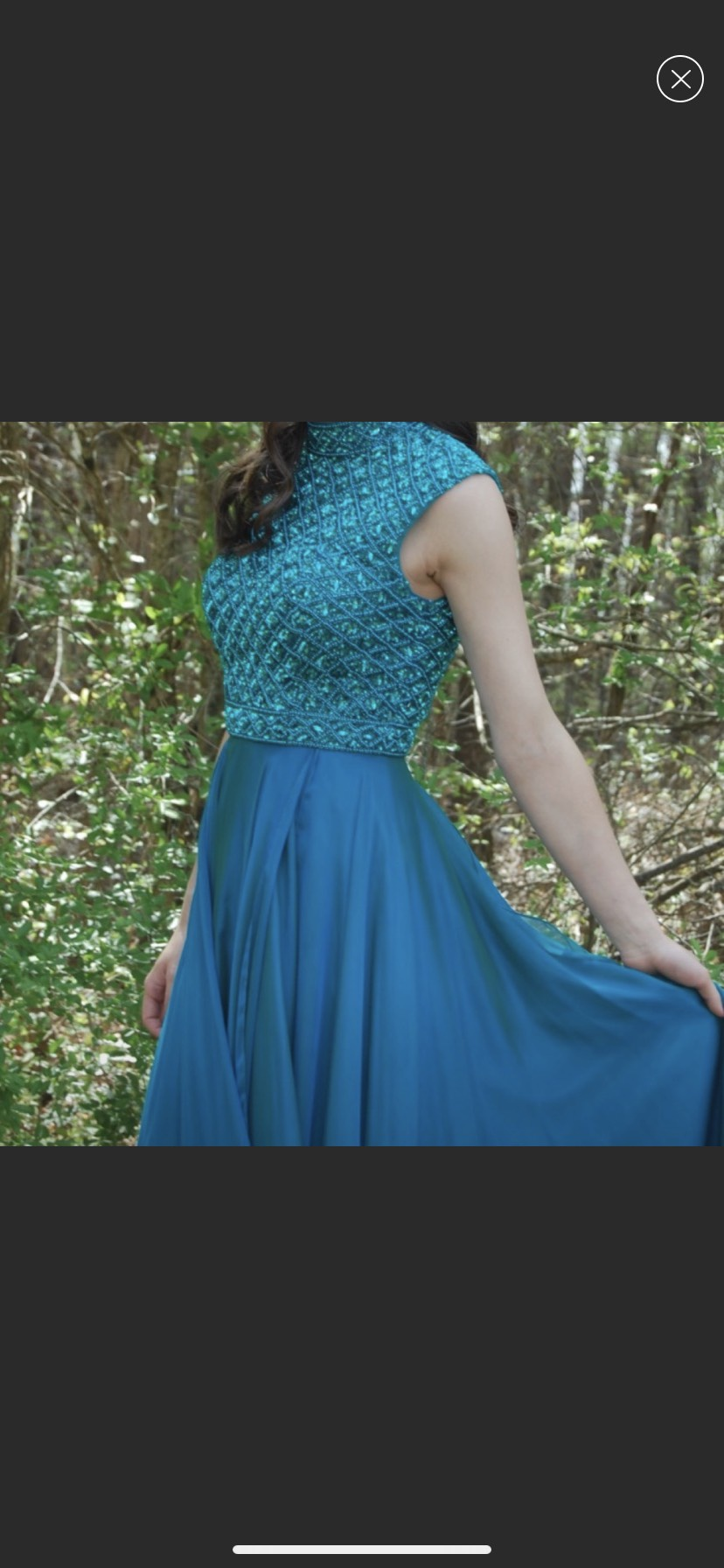 Sherri Hill Blue Size 2 Prom A-line Dress on Queenly