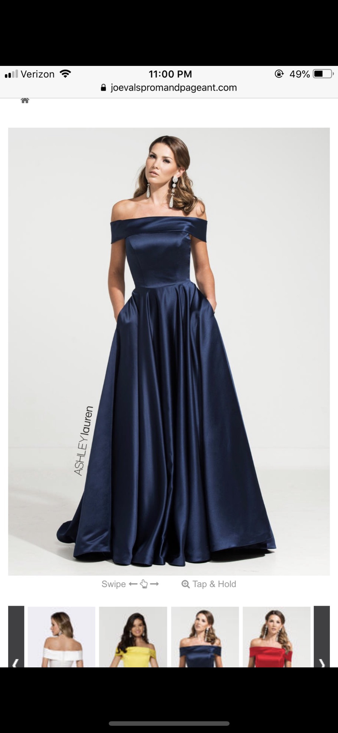 Ashley Lauren Blue Size 8 Belt Train Tall Height Ball gown on Queenly