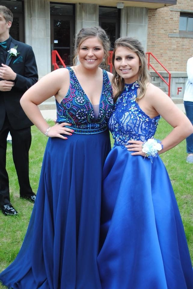 Blue Size 16 Straight Dress on Queenly