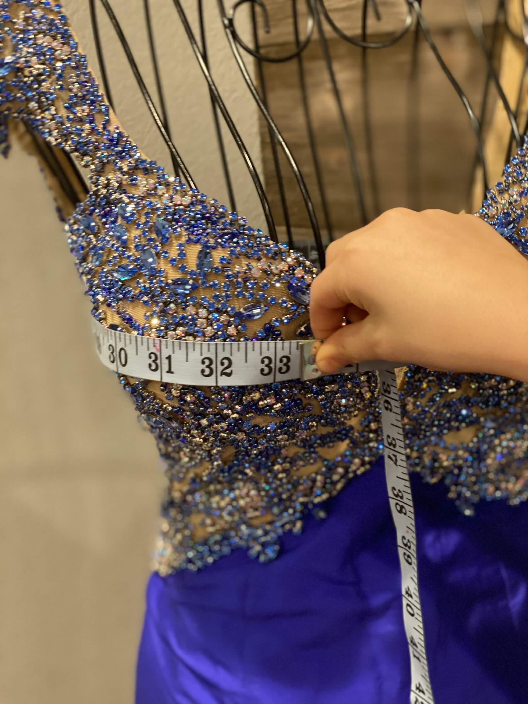 Sherri Hill Blue Size 2 Pageant Side slit Dress on Queenly