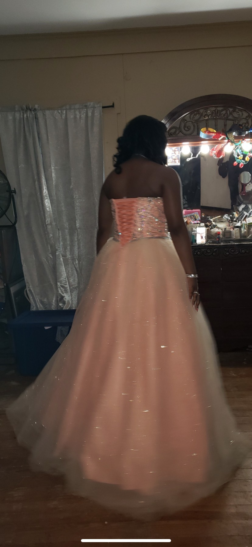 Orange Size 12 Ball gown on Queenly