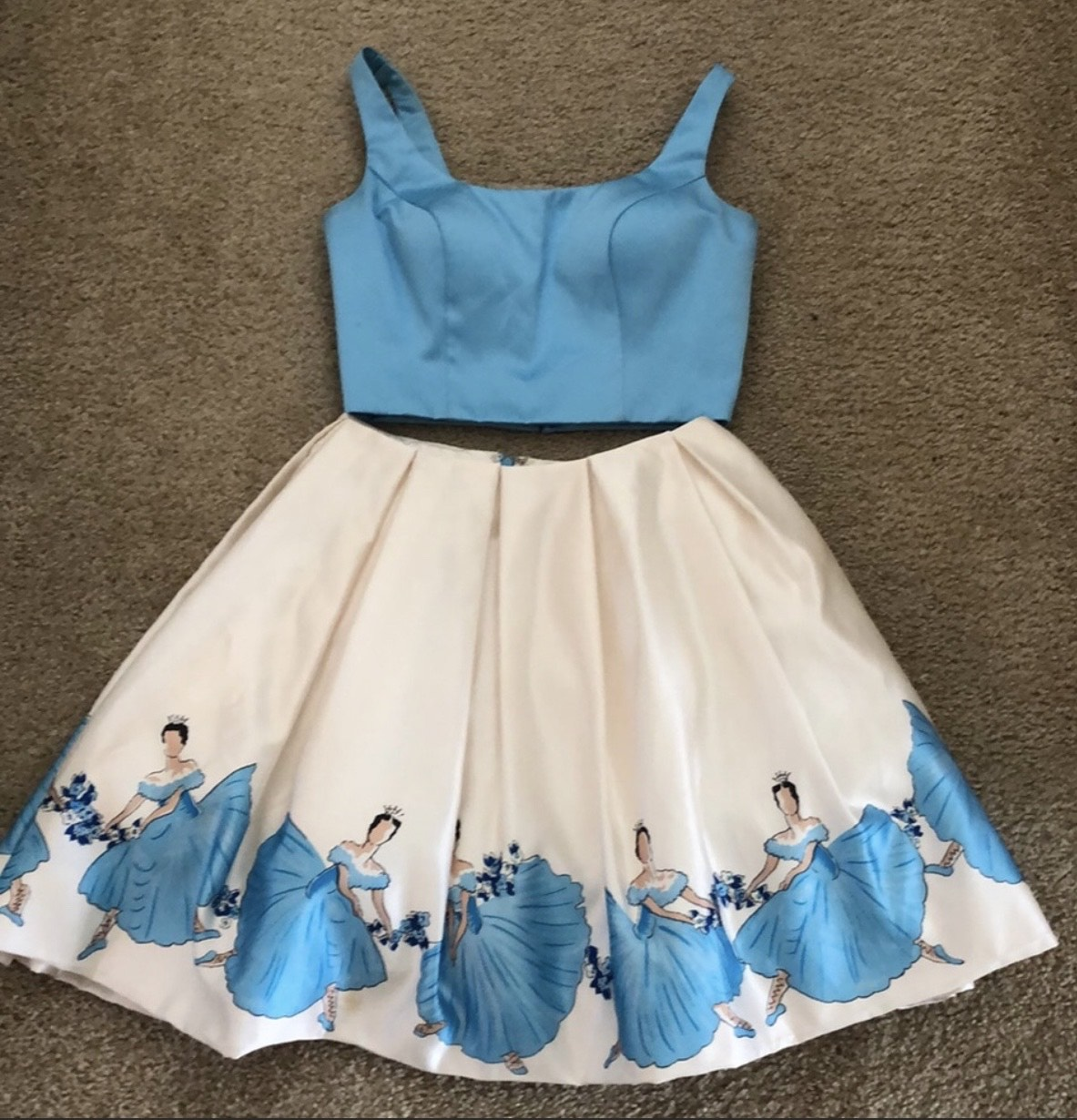 Sherri Hill Blue Size 4 Custom Cocktail Dress on Queenly