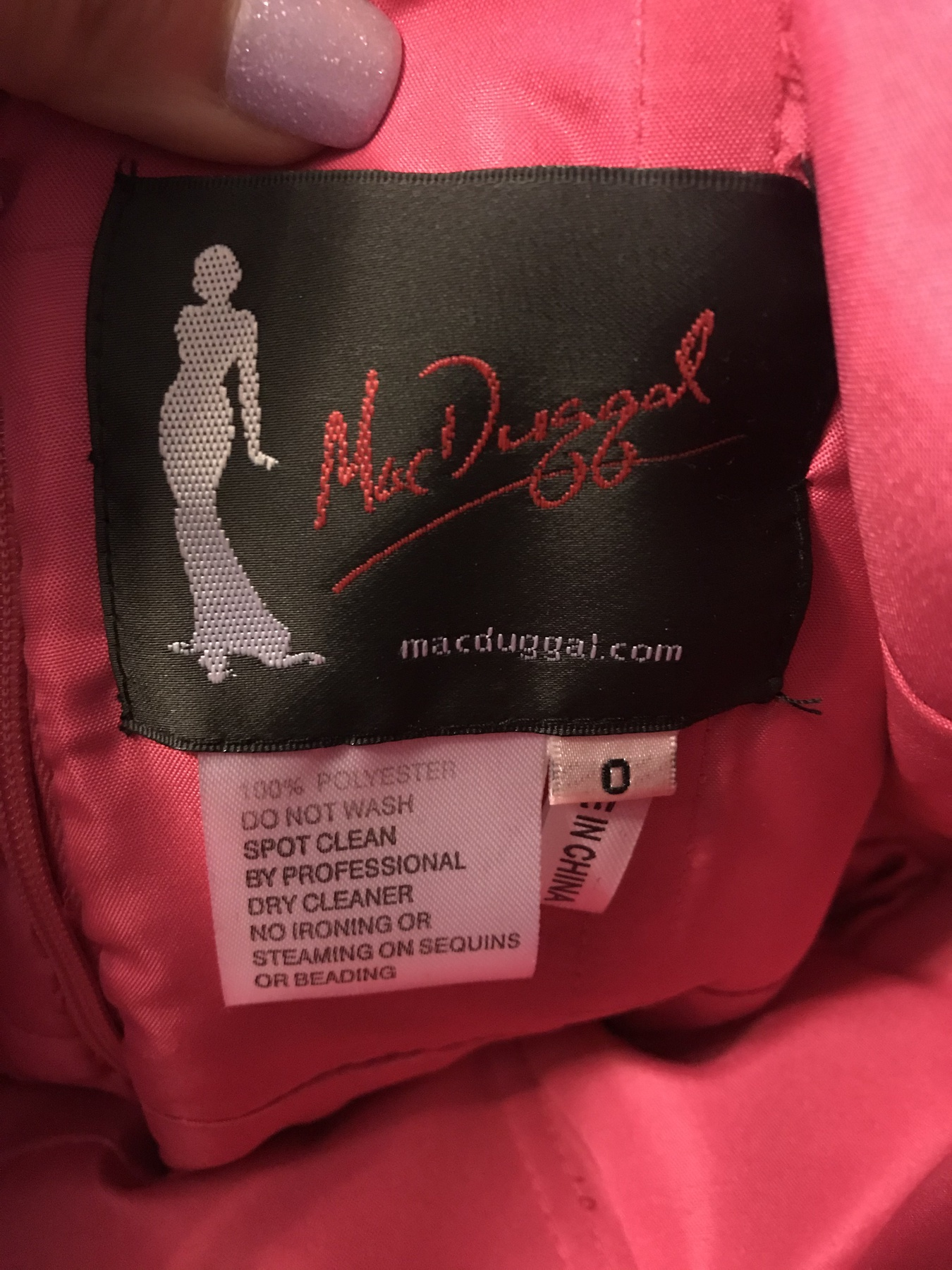 Mac Duggal Pink Size 0 Mini Cocktail Dress on Queenly