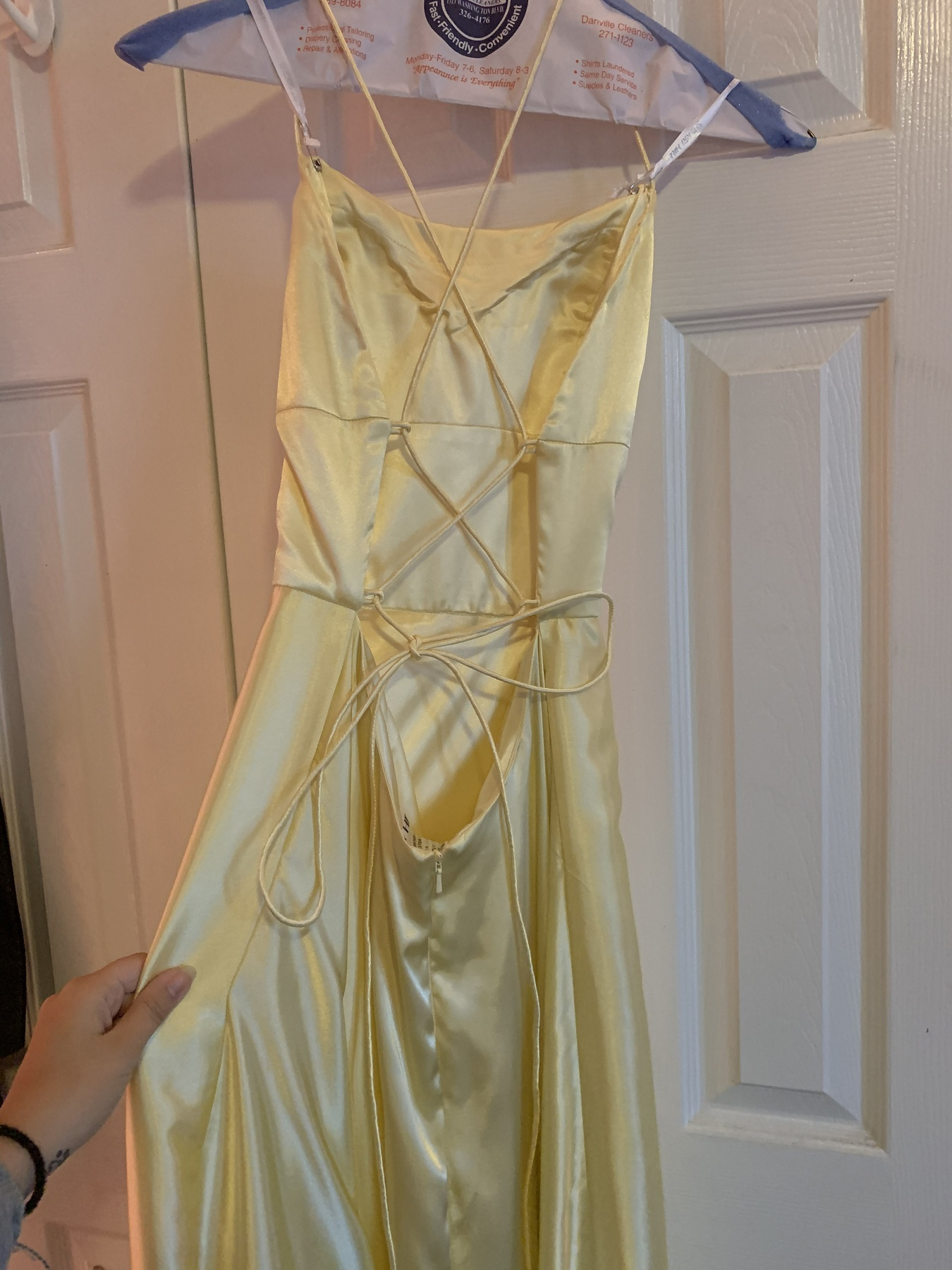 Sherri Hill Yellow Size 6 Prom Corset Side slit Dress on Queenly