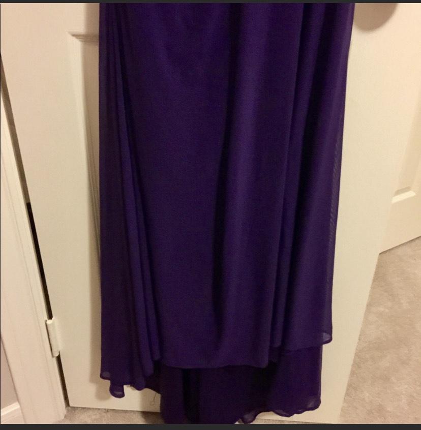 Purple Size 8 Train Dress on Queenly