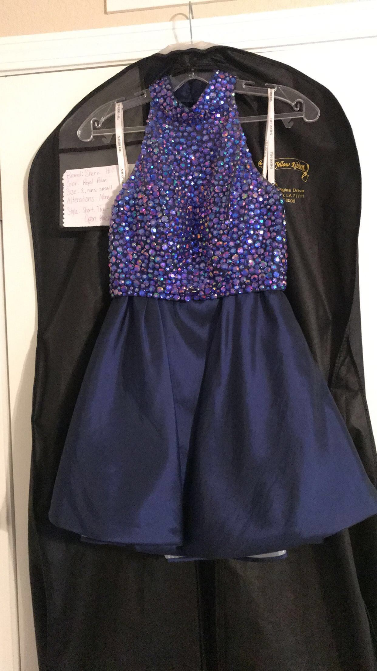 Sherri Hill Royal Blue Size 2 Mini Two Piece Cocktail Dress on Queenly