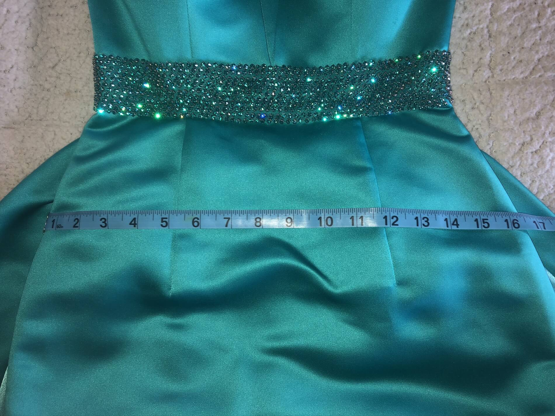 Green Size 2 Train Dress on Queenly