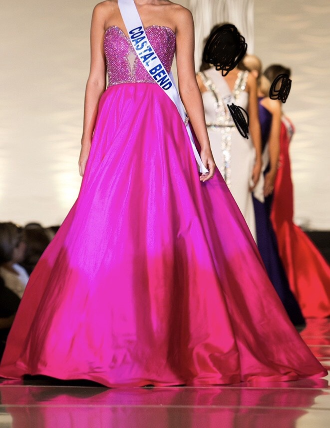 Sherri Hill Hot Pink Size 2 Pageant Ball gown on Queenly