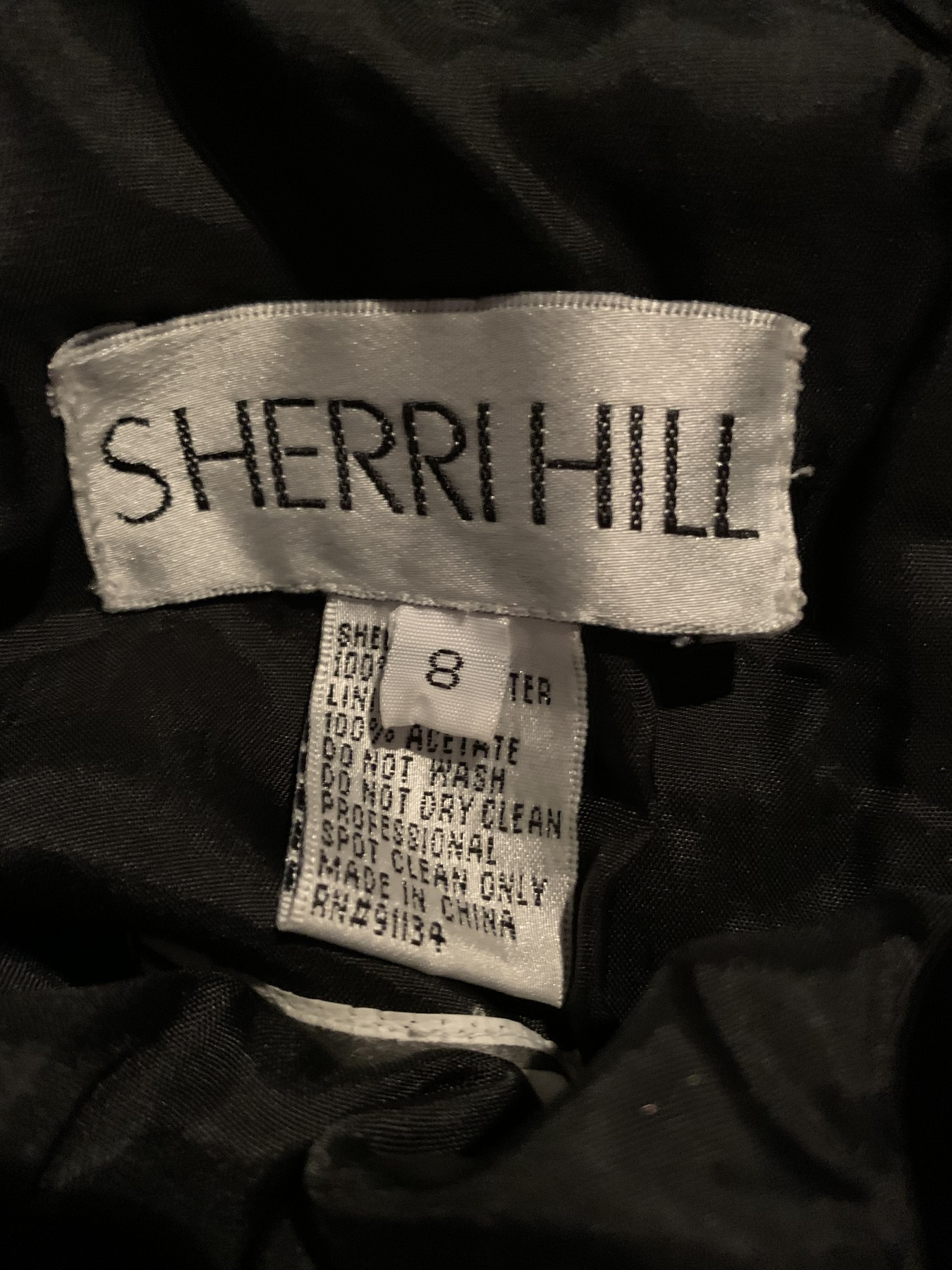 Sherri Hill Black Size 8 Short Height Fitted Cocktail Dress on Queenly