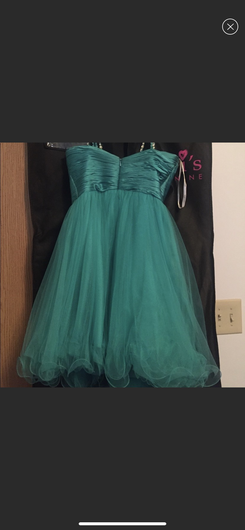 Sherri Hill Blue Size 2 Lace A-line Dress on Queenly