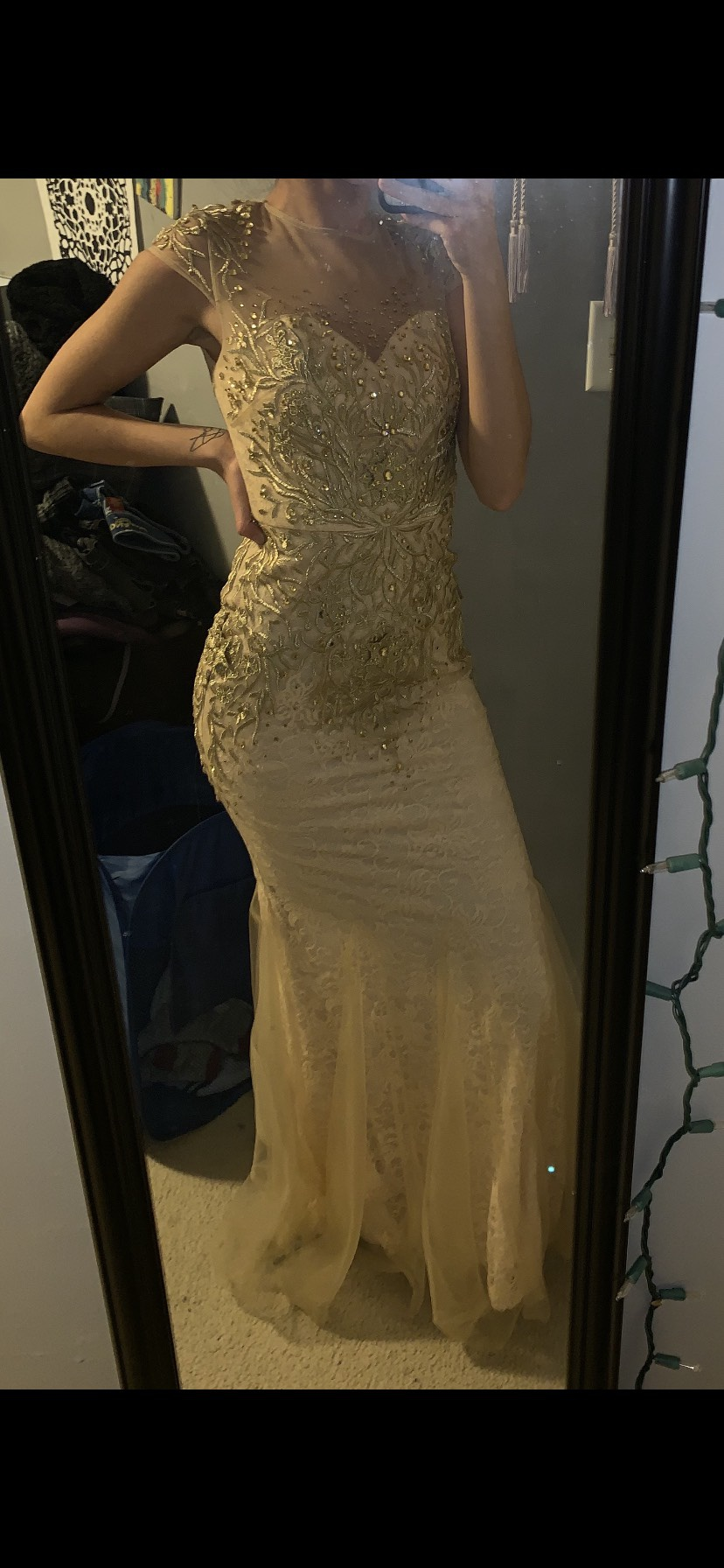 Nude Size 0 Mermaid Dress on Queenly