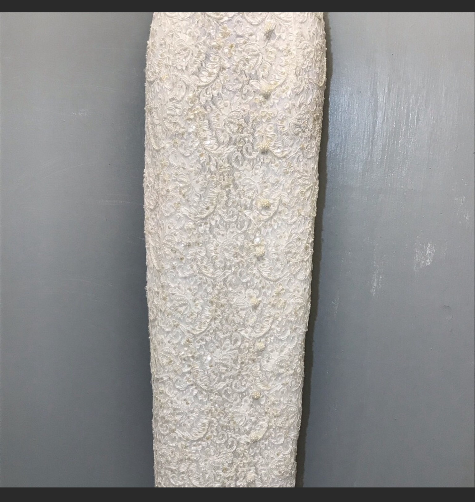 Gloria Vanderbit White Size 10 Prom Pageant Sequin Tall Height Straight Dress on Queenly