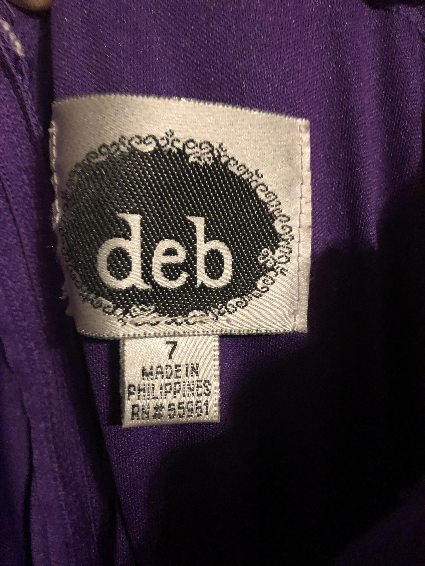 deb Purple Size 6 Prom Jersey Plunge Straight Dress on Queenly