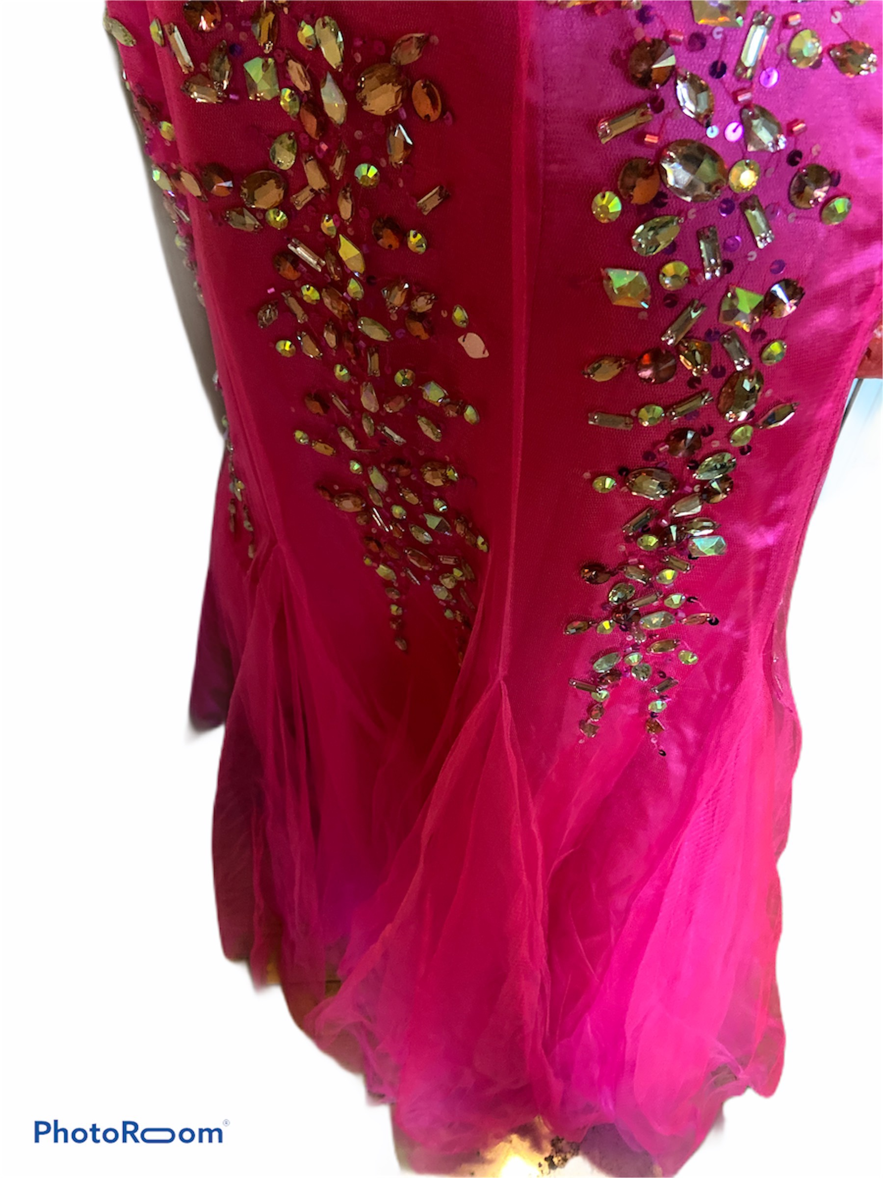Daniella Couture Pink Size 6 Polyester Padded Mermaid Dress on Queenly