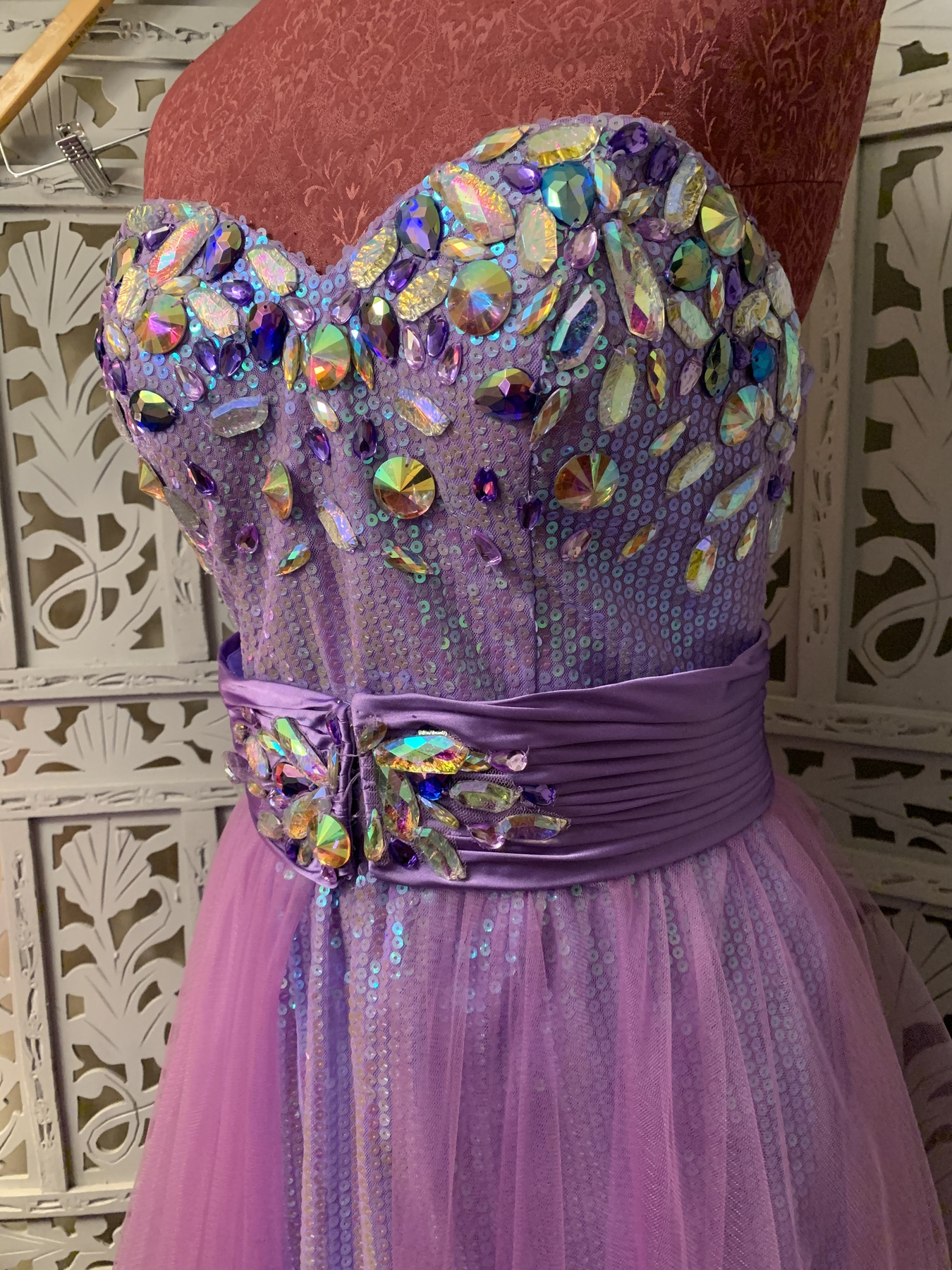Party Time Formals Purple Size 12 Mini Short Height Tulle Ball gown on Queenly