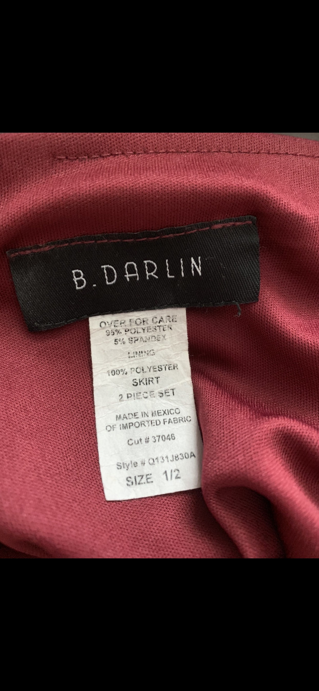B. Darlin Red Size 2 Halter Side slit Dress on Queenly