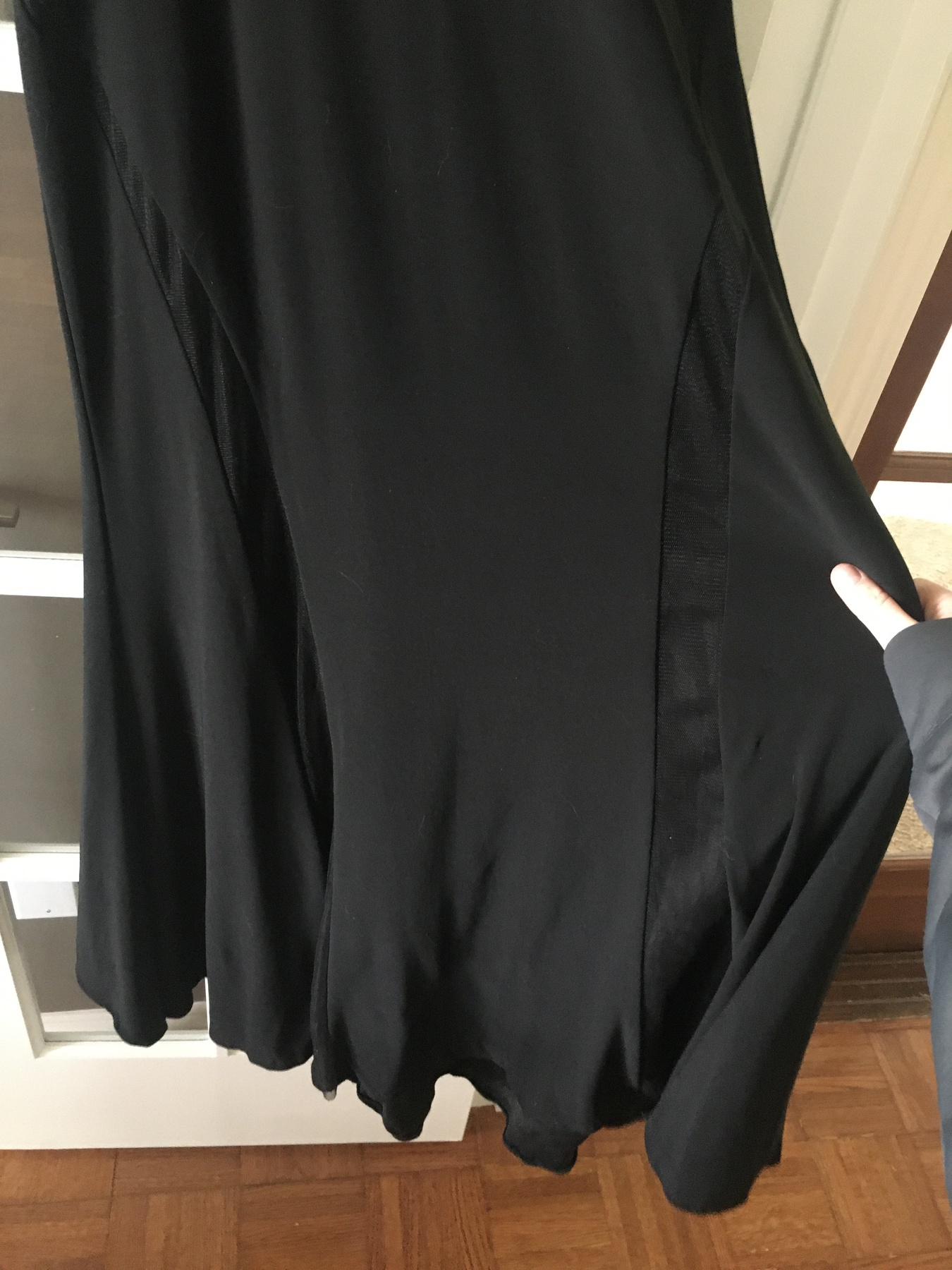 Mac Duggal Black Size 4 Train Sheer Straight Dress on Queenly