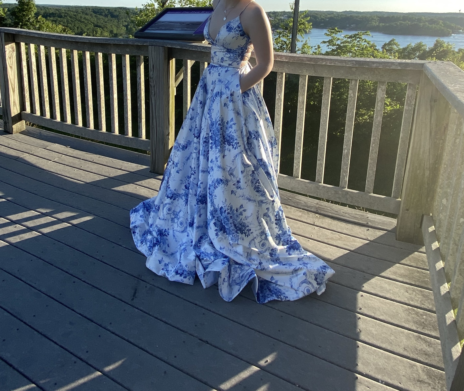 Blue Size 00 A-line Dress on Queenly