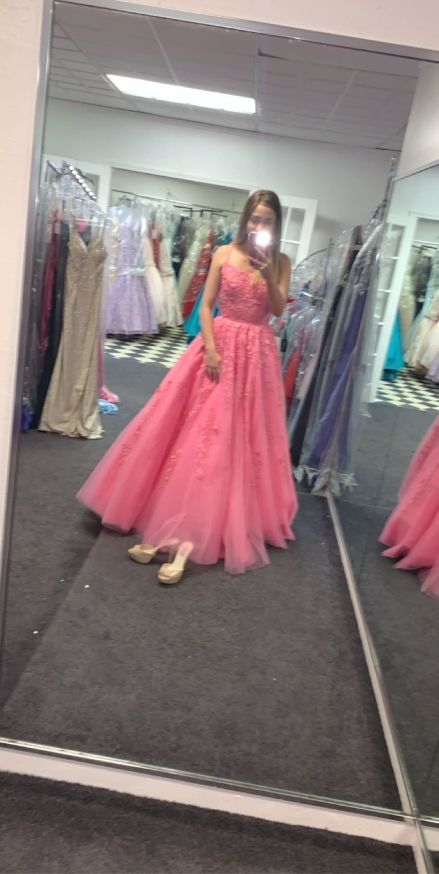 Sherri Hill Pink Size 0 Medium Height Prom Ball gown on Queenly