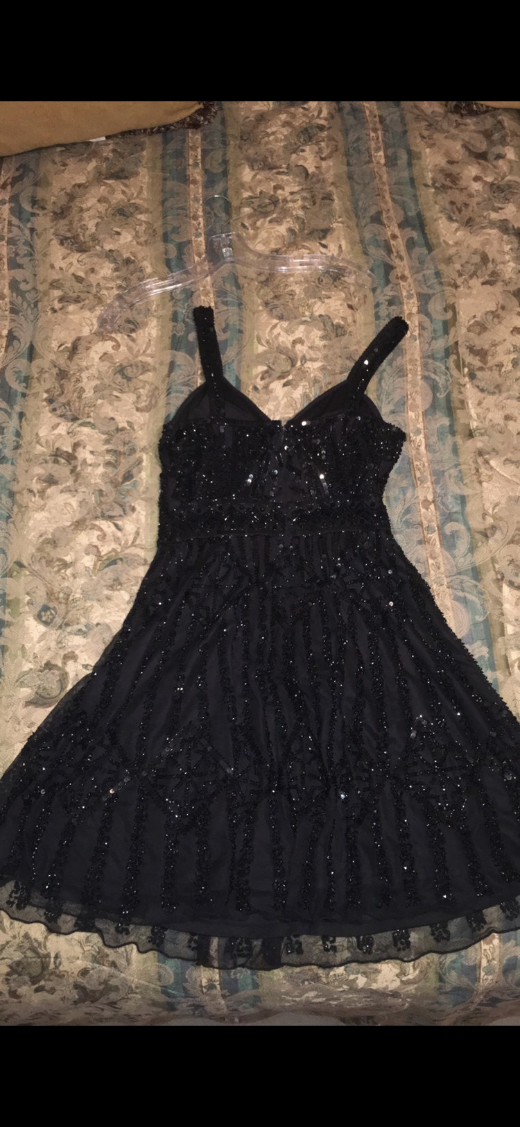 Shail K Black Size 6 Homecoming Sequin A-line Dress on Queenly