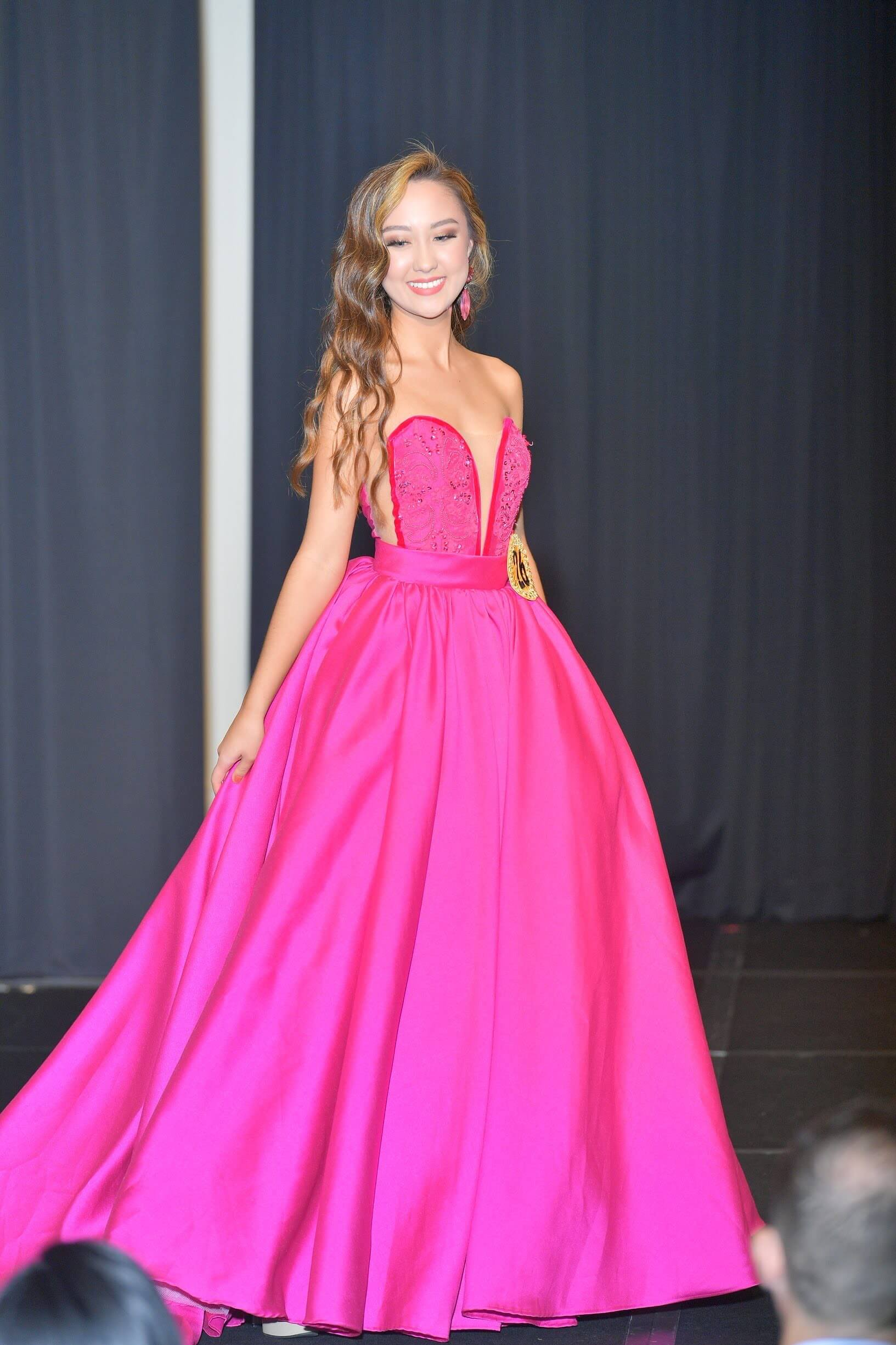 Custom Hot Pink Size 0 Strapless Prom Ball gown on Queenly