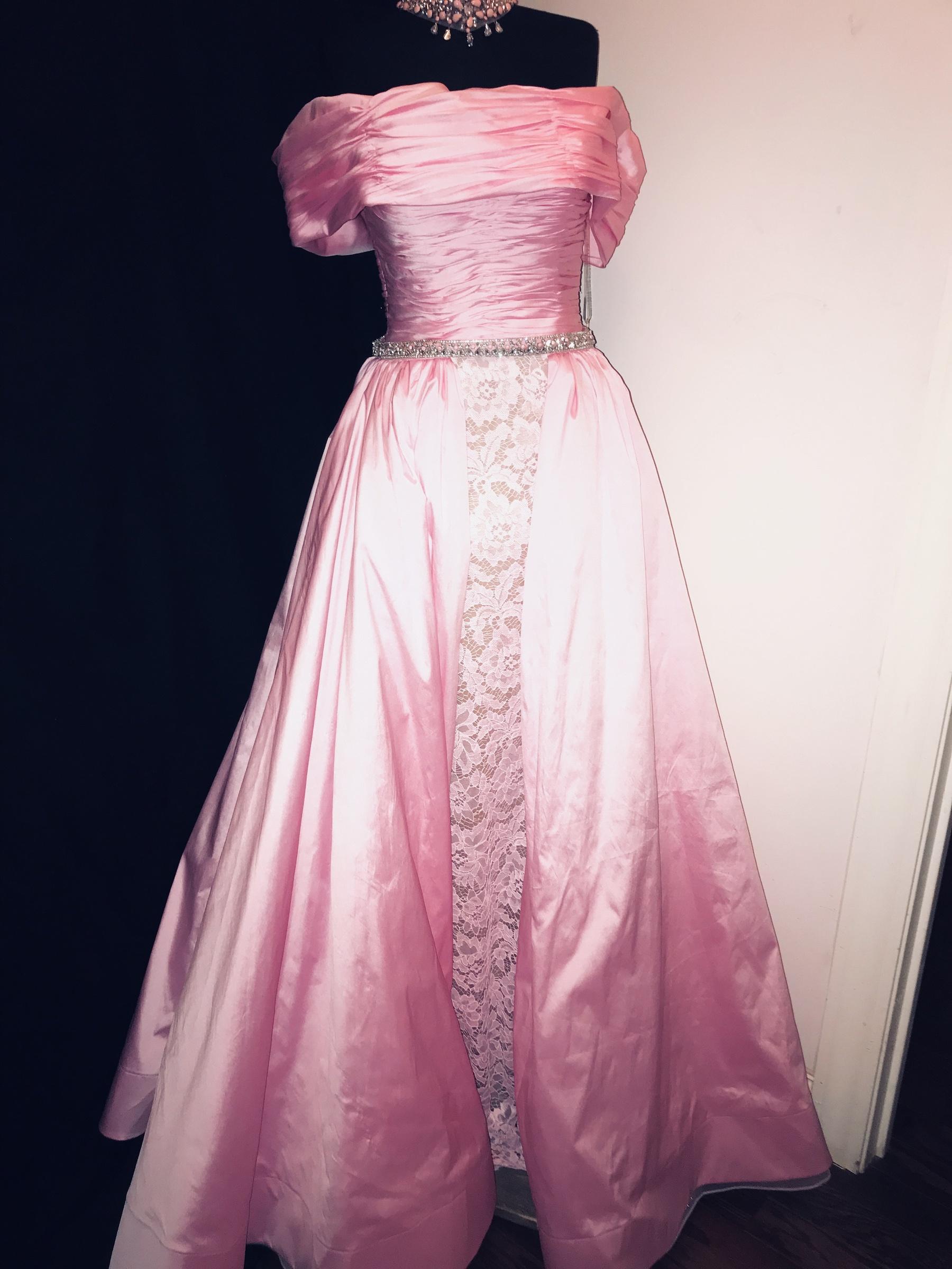 Tarik Ediz Pink Size 6 Overskirt Nude Straight Dress on Queenly