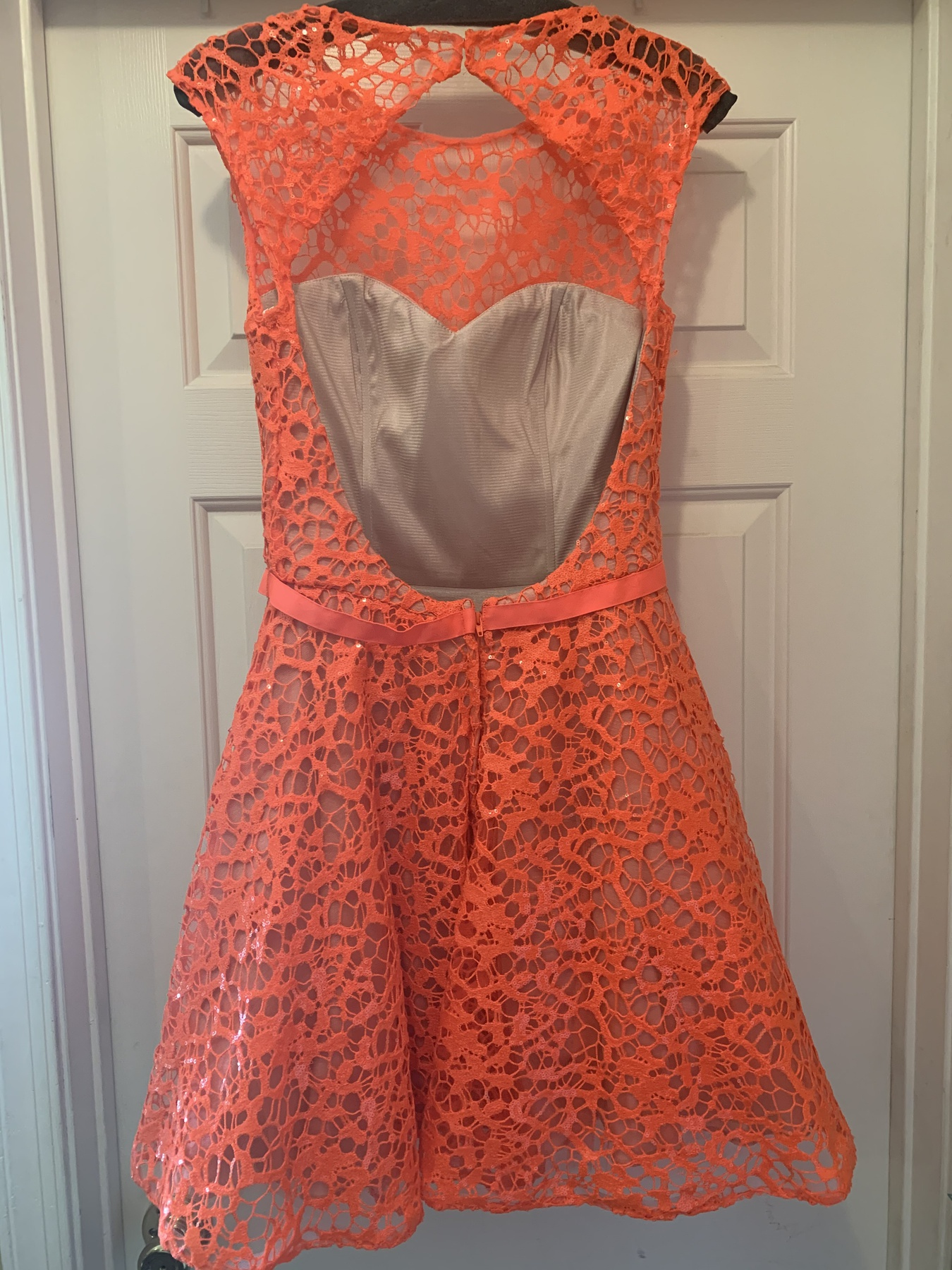 Jovani Orange Size 8 Homecoming Cocktail Dress on Queenly