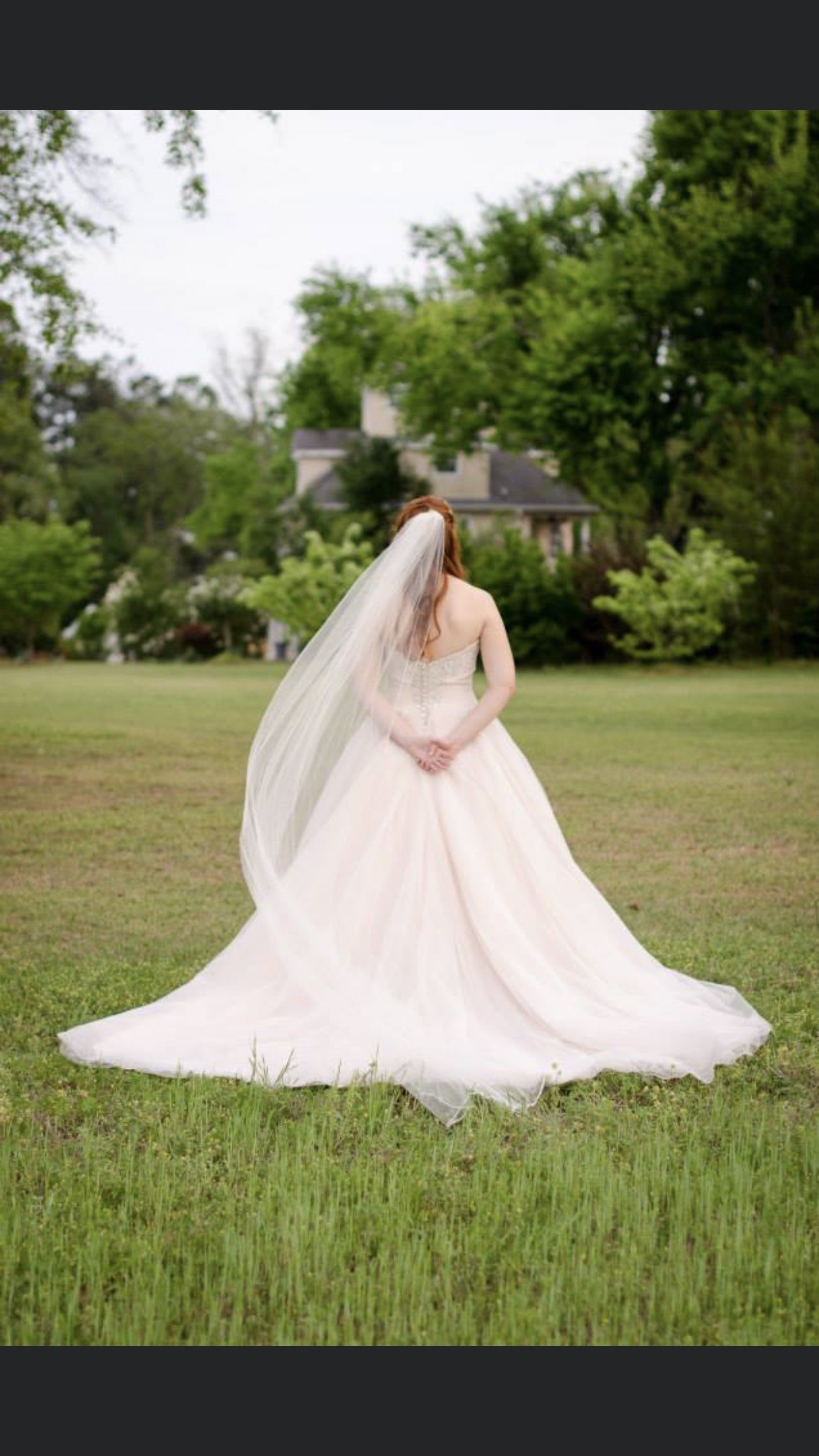 Allure White Size 10 Wedding Tulle Sweetheart Ball gown on Queenly