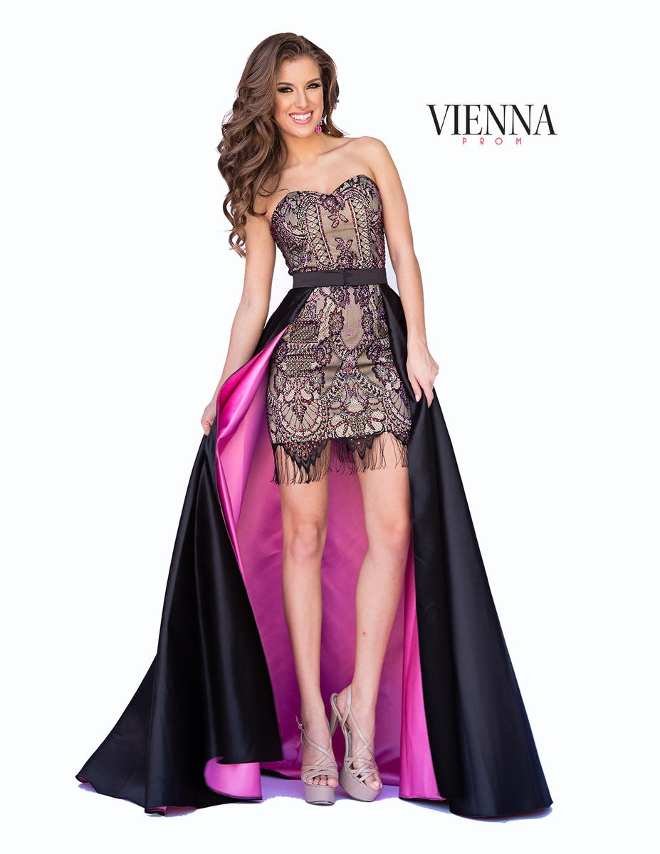 Style 6031 Vienna Pink Size 2 Overskirt Strapless Mini Cocktail Dress on Queenly