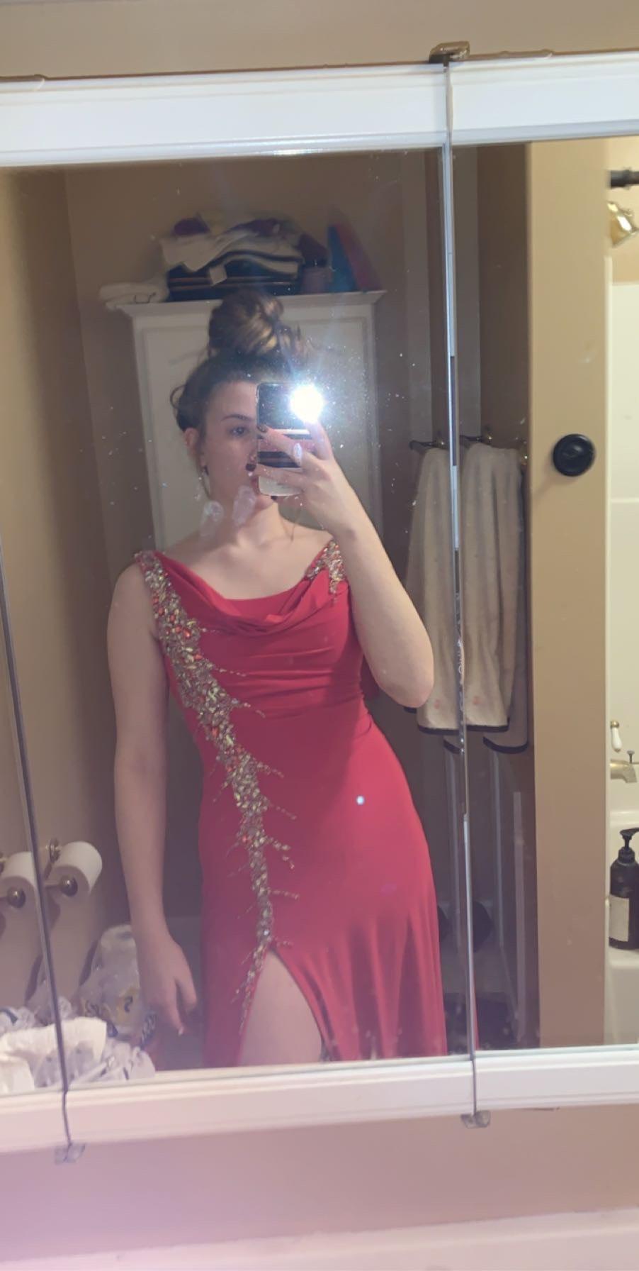 Pink Size 6 Side slit Dress on Queenly