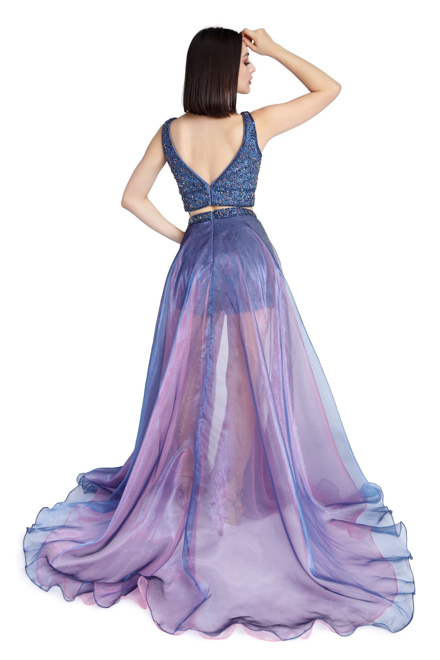 Style 8605 Vienna Purple Size 00 Pageant Overskirt Romper/Jumpsuit Dress on Queenly