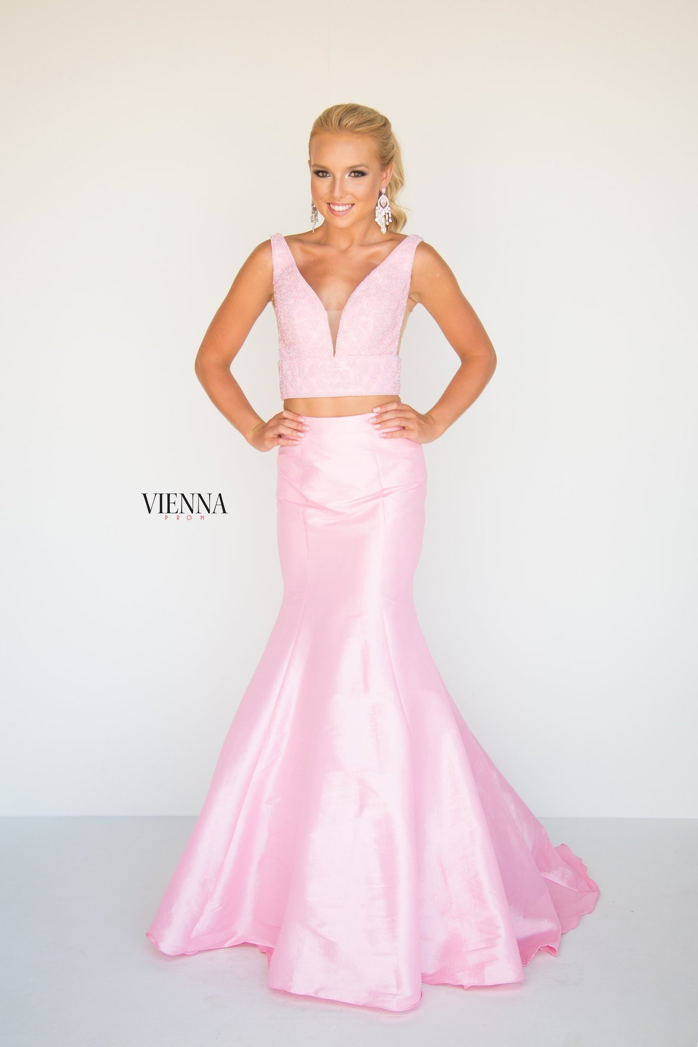 Style 8288 Vienna Pink Size 16 Backless Tall Height Mermaid Dress on Queenly