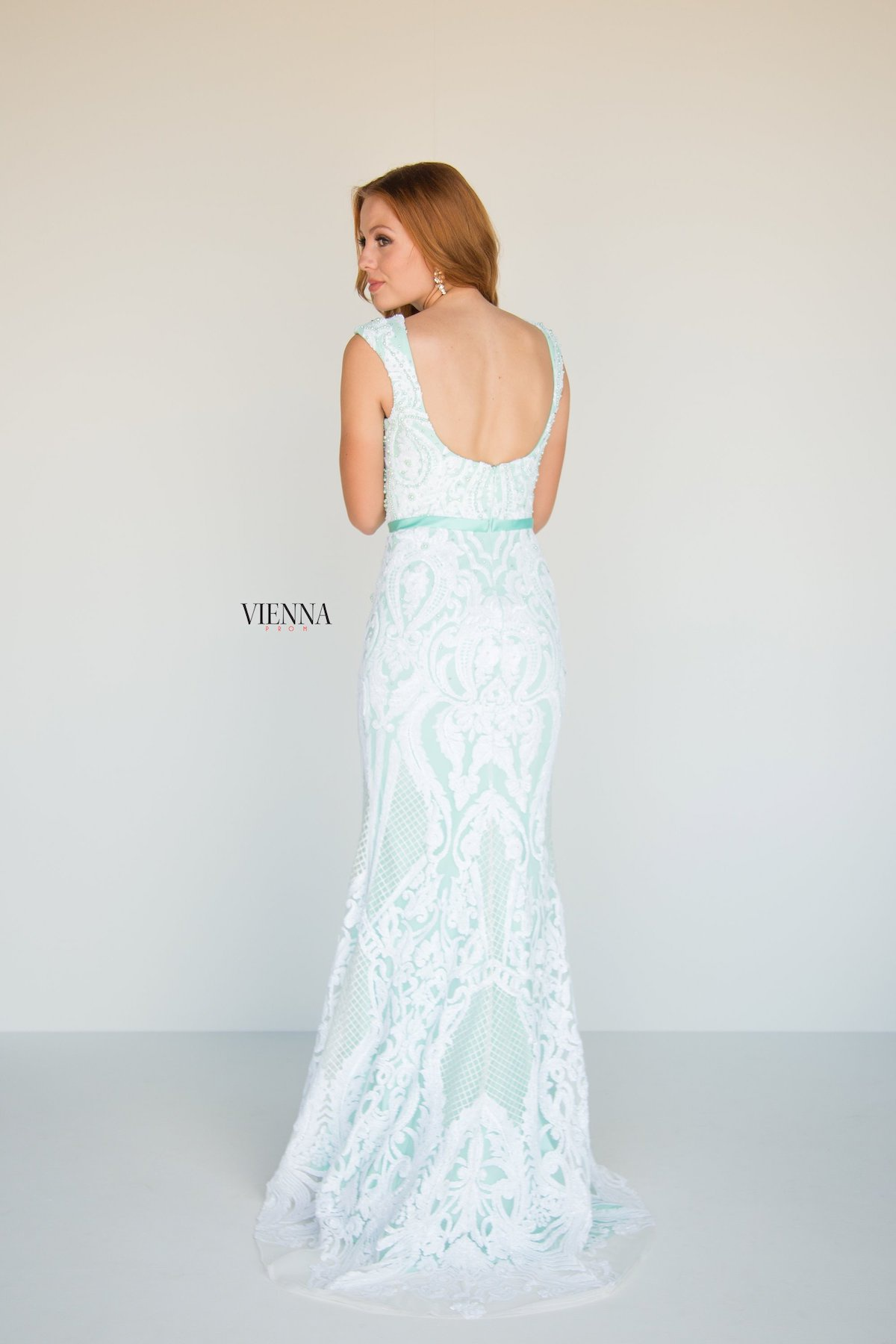 Style 8810 Vienna Green Size 18 Tall Height Lace Mermaid Dress on Queenly