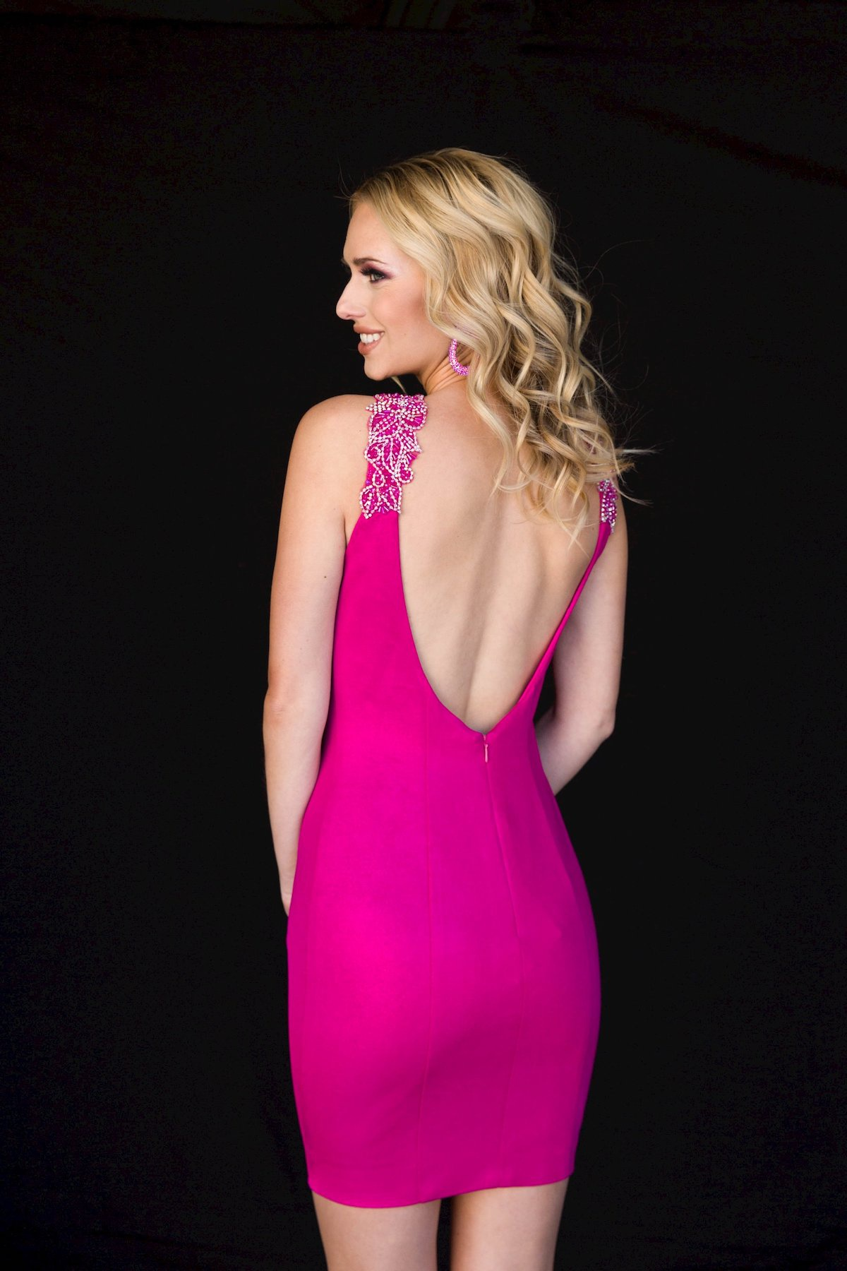 Style 6146 Vienna Pink Size 2 Keyhole Backless Cocktail Dress on Queenly