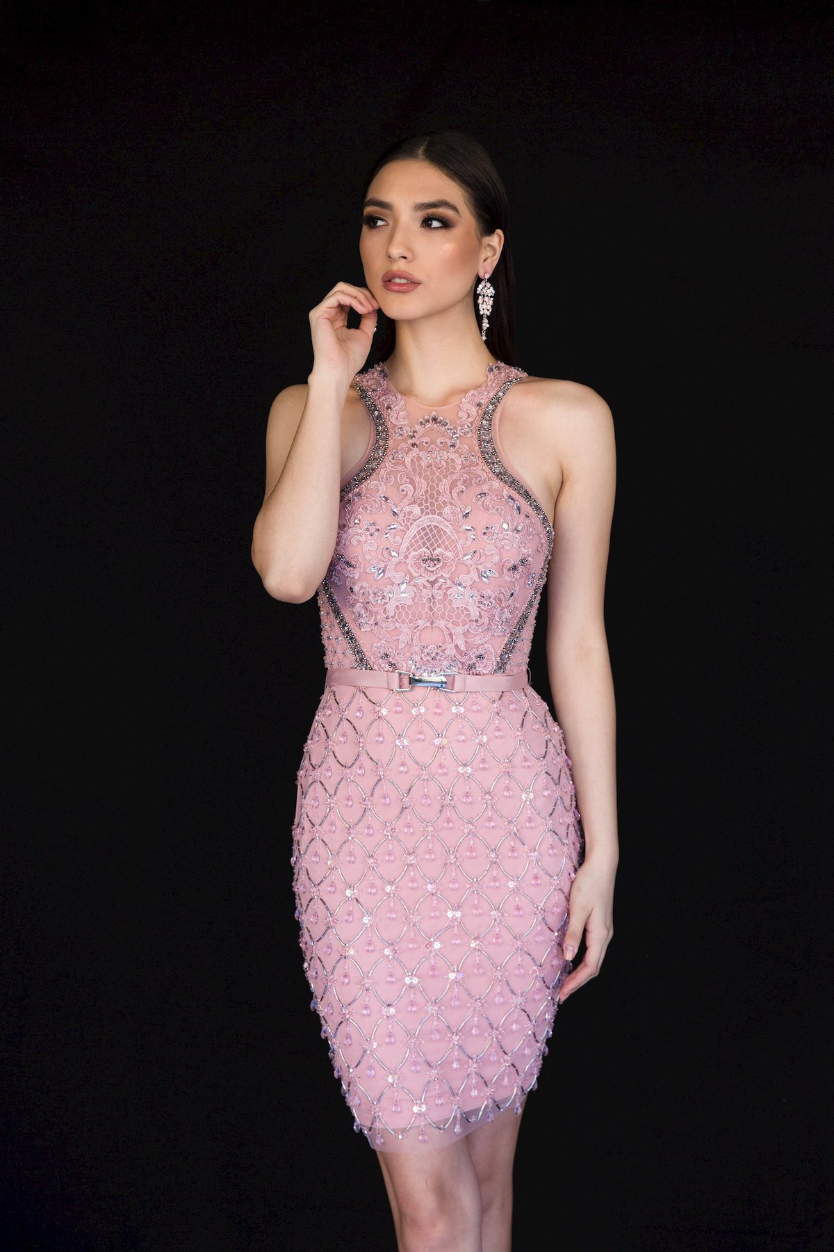 Style 6139 Vienna Pink Size 2 Tall Height Cocktail Dress on Queenly