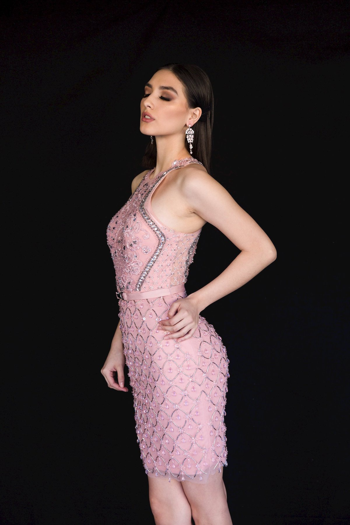 Style 6139 Vienna Pink Size 6 Mini Tall Height Cocktail Dress on Queenly