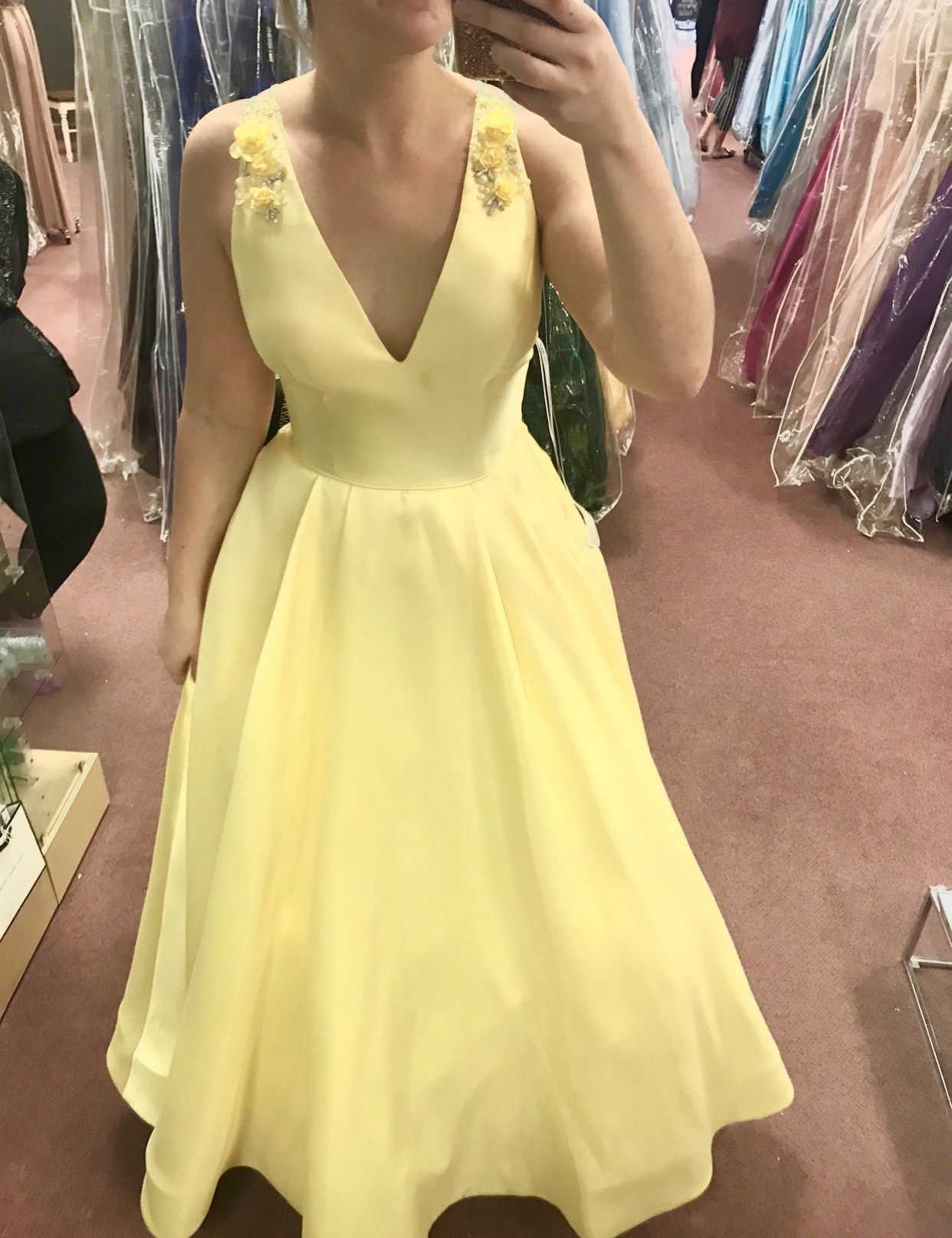 Yellow Size 10 A-line Dress on Queenly